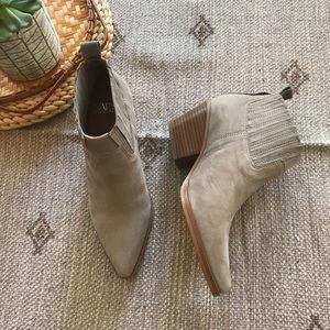Franco Sarto grey suede Lasso booties size 6 NWT!
